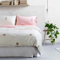 Lovely Flower Ivory Bedding Set Teen Bedding Kids Bedding Duvet Cover Pillow Sham Flat Sheet Gift Idea