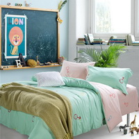 You Love Me Green Bedding Set Teen Bedding Kids Bedding Duvet Cover Pillow Sham Flat Sheet Gift Idea