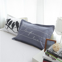 Birds Grey Bedding Teen Bedding Kids Bedding Modern Bedding Gift Idea