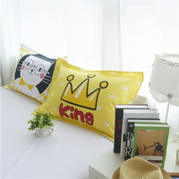 Cat Yellow Bedding Teen Bedding Kids Bedding Modern Bedding Gift Idea