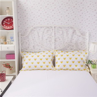 Crowns Yellow Bedding Teen Bedding Kids Bedding Modern Bedding Gift Idea