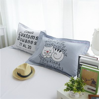 Sleepy Kitty Grey Bedding Teen Bedding Kids Bedding Modern Bedding Gift Idea