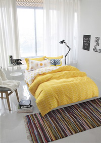 Sunshine Yellow Bedding Teen Bedding Kids Bedding Modern Bedding Gift Idea
