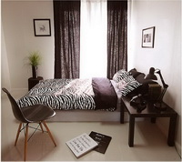 Coffee Zebra Print Bedding Sets
